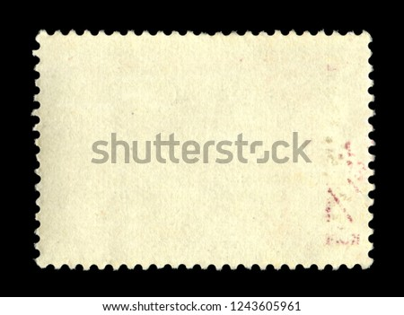 Vintage postage stamp on a black background #1243605961