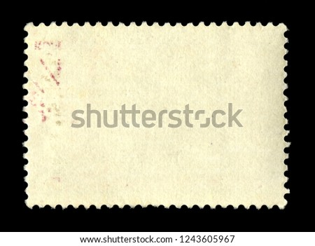 Vintage postage stamp on a black background #1243605967