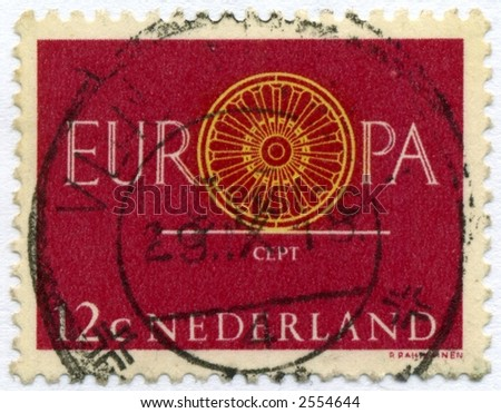 vintage postage stamp world ephemera netherlands