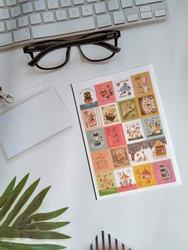 Vintage Postage Stamps for Scrapbook Journaling