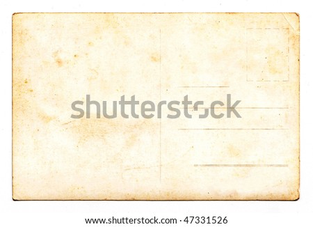 Vintage Postcard Texture Background Paper