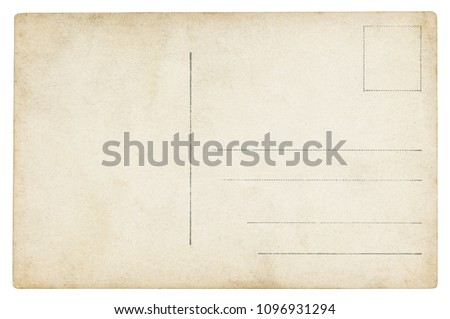 Vintage Postcard - isolated (clipping path included)  #1096931294