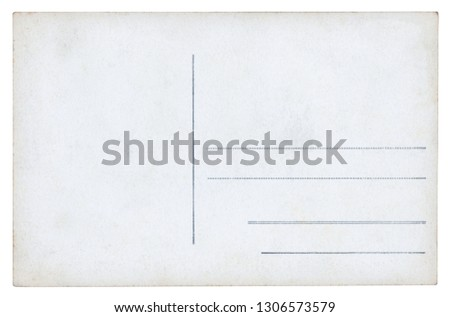 Vintage Postcard - isolated (clipping path included)  #1306573579