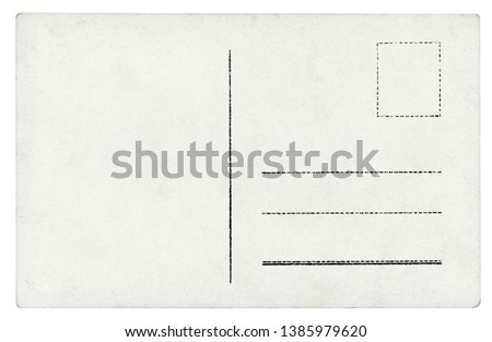 Vintage Postcard - isolated (clipping path included) #1385979620
