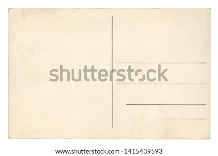 Vintage Postcard - isolated (clipping path included) #1415439593