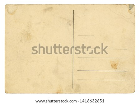 Vintage Postcard - isolated (clipping path included)  #1416632651