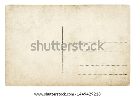 Vintage Postcard - isolated (clipping path included) #1449429218