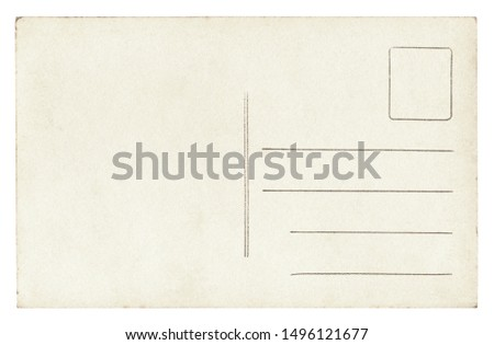 Vintage Postcard - isolated (clipping path included) #1496121677
