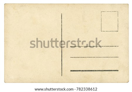 Vintage Postcard - isolated (clipping path included)