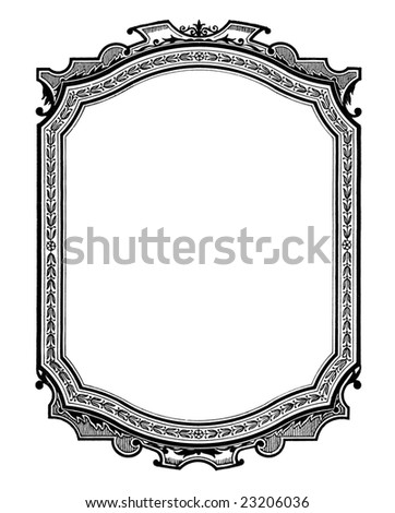 Vintage printed  frame, beginning of 20 century.