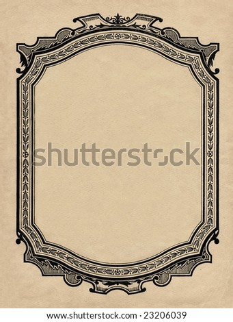 Vintage printed  frame, beginning of 20 century.