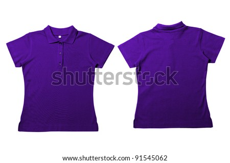 Vintage  Purple Female color Polo Shirt with white background Men Front and back Polo Shirt