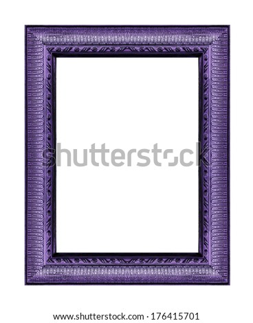 Vintage purple frame with blank space