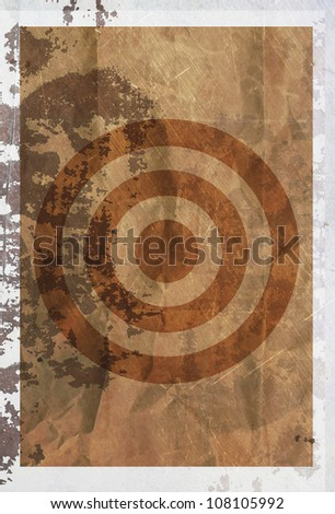 vintage purpose of target abstract  rusty colored background.