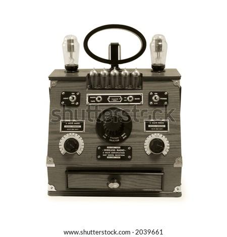 Vintage Radio isolated on white background