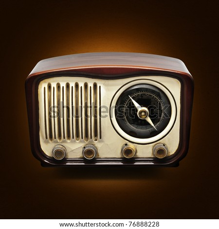 Vintage Radio on a dark background