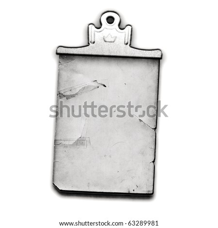 Vintage Real Clipboard And Paper - stock photo