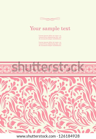 Vintage red background for invitation, backdrop, card, new year brochure, banner, border, wallpaper, template, texture  raster version