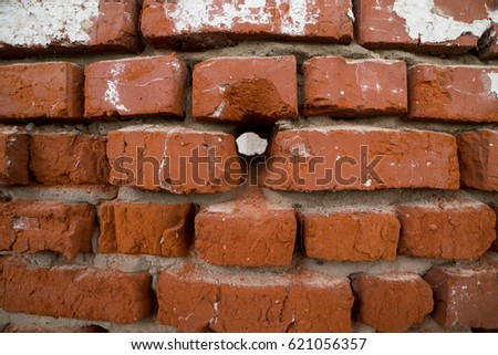 Vintage red brick wall background, brick wall for background texture #621056357