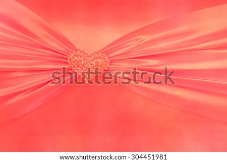 Vintage red tone handmade love of gift box wedding or Valentine Day, close-up