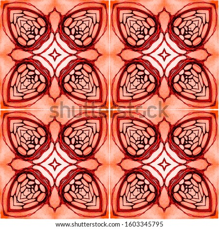 Vintage Repeat Lace Pattern. Islamic geometry Islamic geometry Organic Colors. Dressing element Indian Tribal Art. Hand Drawn. Kaleidoscope Effect. Floral Elements Floral Design.