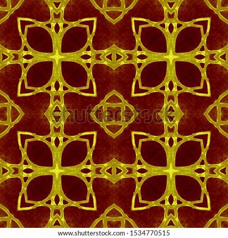 Vintage Repeat Pattern Tile. Ornate Tile Background Ornate Tile Background Golden Black Embroidery print Antique Element Royal Kaleidoscope Pattern Floral Elements Floral Design.