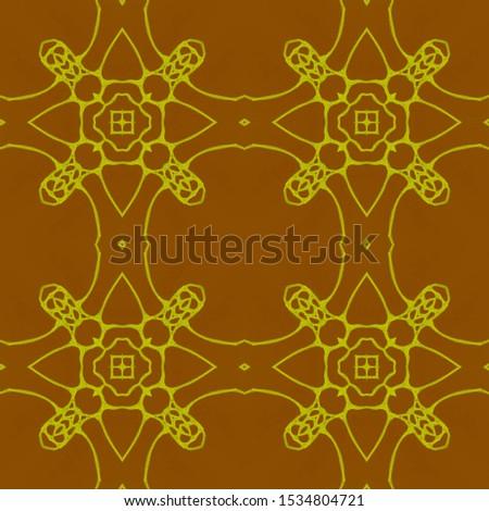 Vintage Repeat Pattern Tile. Ornate Tile Background Ornate Tile Background Golden Black Embroidery print Asian Ornament. Hand Drawn. Kaleidoscope Pattern Floral Pattern. Floral Elements