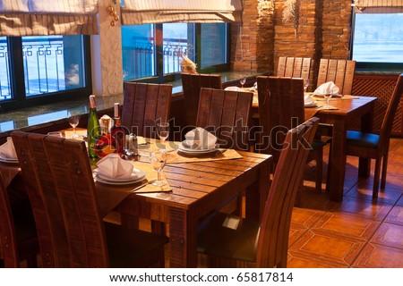 Vintage restaurant interior