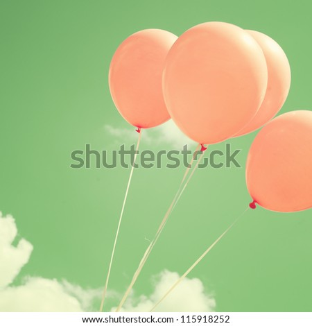 Vintage - Retro Balloons in the Sky