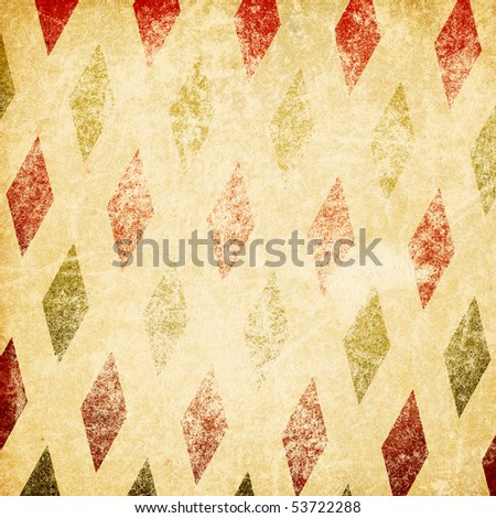 Vintage retro circus background. Isolated on white.