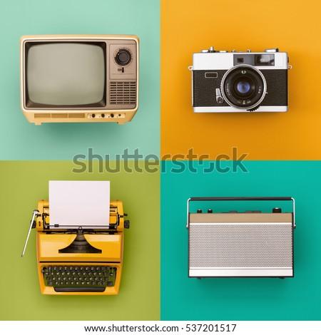 Vintage / retro electronics set