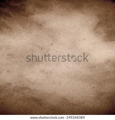 Vintage Retro Gray Brown Paper Parchment Background Texture