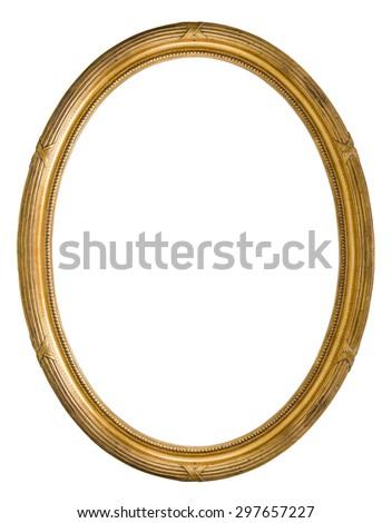 Vintage Retro old golden color wooden Picture Frame #297657227