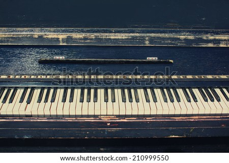 stock photo vintage retro piano 210999550 - Каталог — Фотообои «Ретро»