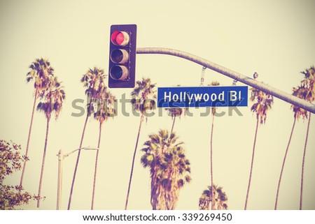 vintage retro toned hollywood...