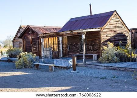vintage retro wooden cabins  ...