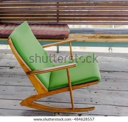 vintage rocking chair with a...