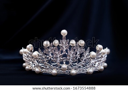 Vintage royal crown with pearls, jewellery. Concept of power and wealth Stockfoto ©