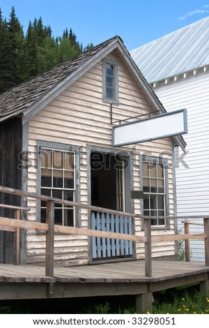 Vintage saloon from 1800s in historic town
