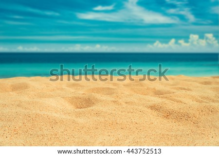 vintage sand beach  #443752513