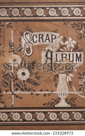 vintage scrap album background texture