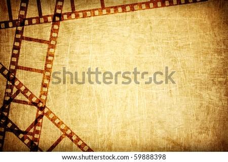 vintage scratch background with film frame