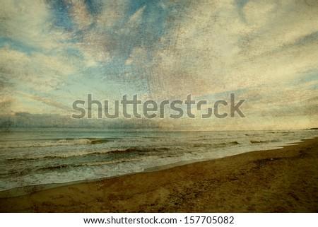 Vintage sea background. beach and sea