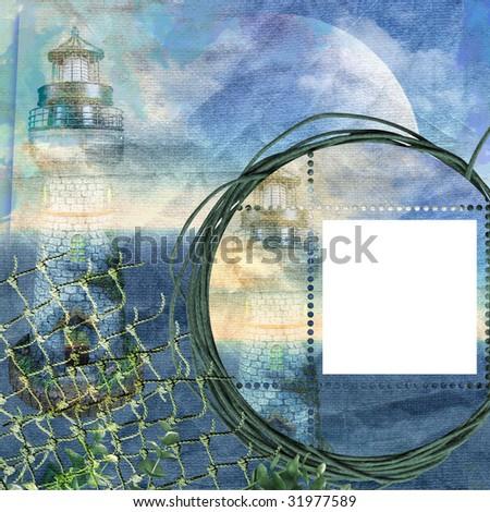 vintage sea frame with Sea Beacon