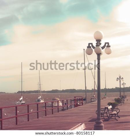 Vintage Sea port