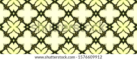 Vintage Seamless Background. Old Mosaic tile. Old Mosaic tile. Green Colors Dressing element Asian Ornament. Hand Drawn. Kaleidoscope Art. Floral Elements Floral Elements