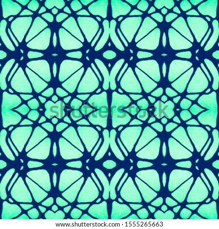 Vintage Seamless Background. Ornamental Geometry. Ethnic Ornament Print. Blue Azure Tile Dressing element Antique Element DIY effect art. Kaleidoscope Pattern Floral Elements Floral Elements