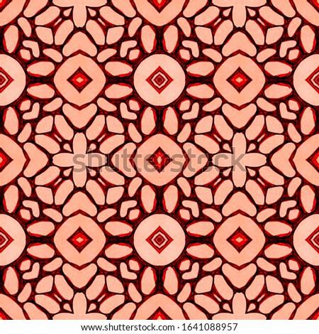 Vintage Seamless Background. Vintage Ceramic tile. Ethnic Ornament Print. Black and White. Dressing element Antique Element Hand Painted Kaleidoscope Effect. Floral Elements Floral Elements