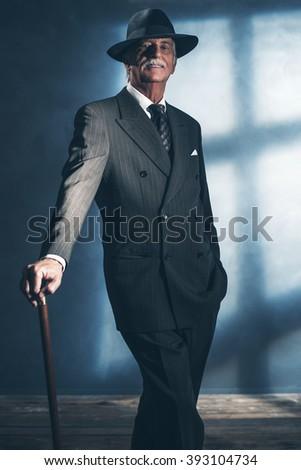 vintage 1940 senior businessman ...