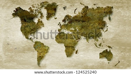Vintage sepia world map background